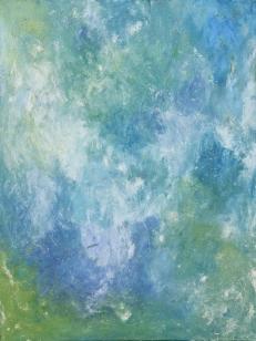 'Bonfire', Egg tempera and paper on canvas, 80x60 cm.