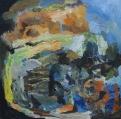'Broken vase', Acrylic on canvas, 50x50 cm.