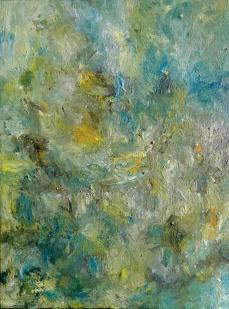 'Green flame', Acrylic on canvas, 80x60 cm.