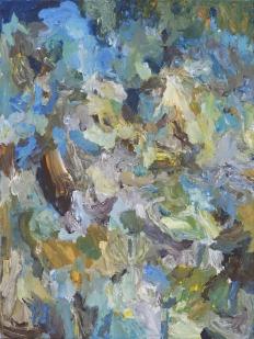 'Montagnes', Acrylic on canvas, 80x60 cm.