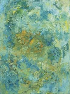 'Premier vert', Acrylic on canvas, 40 x 30 cm.