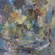 'Sweet chocolate storm', Acrylic on canvas, 50x50 cm.